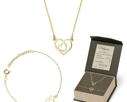 biżuteria - komplet złoty