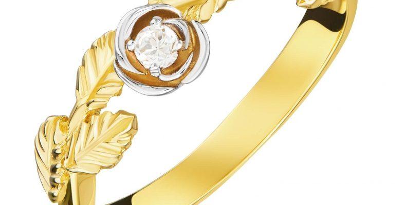 pierścionek złoty z cyrkoniami próba 585
