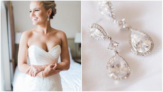 ślubna biżuteria - kolczyki